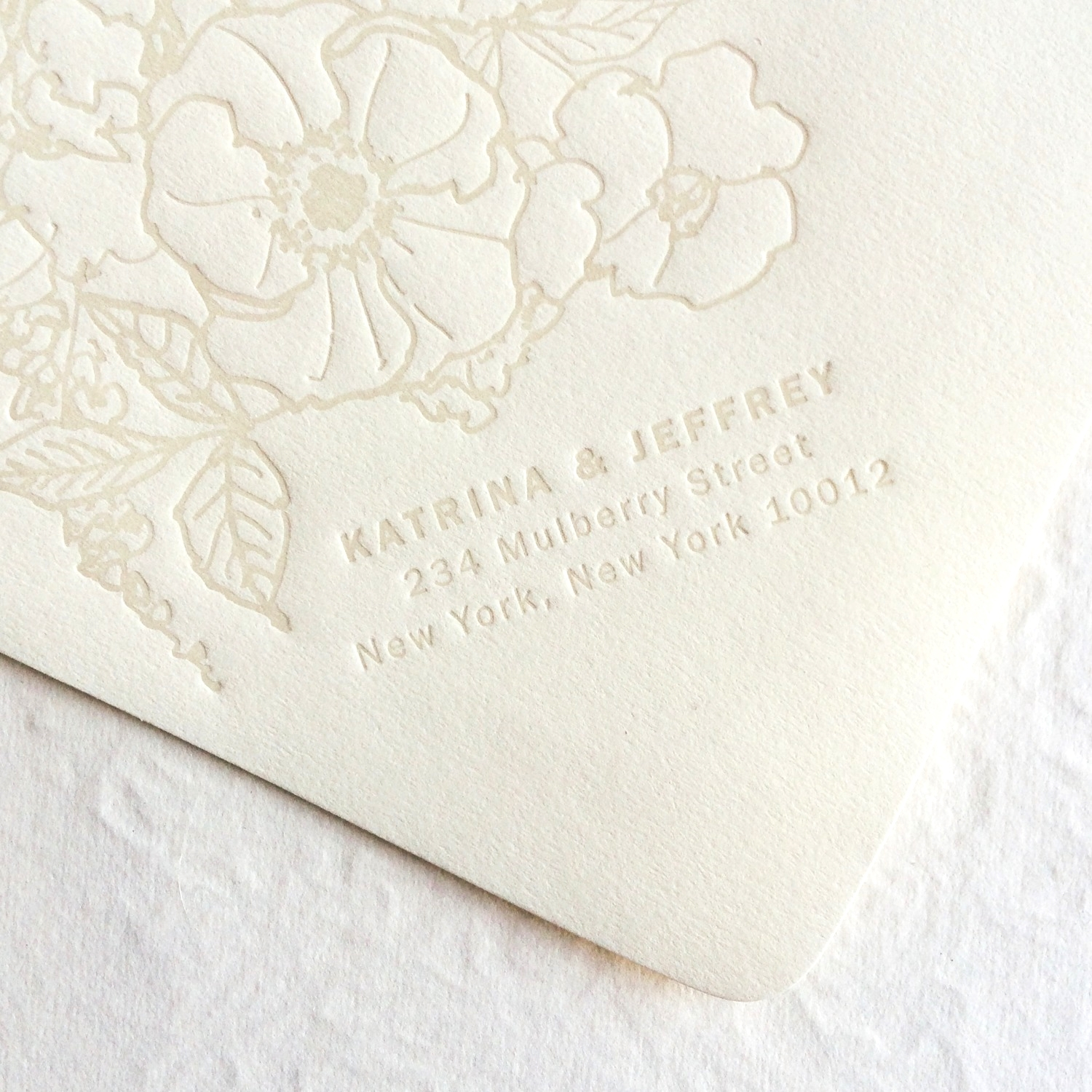 Allover Floral Invitation / Paper & Type