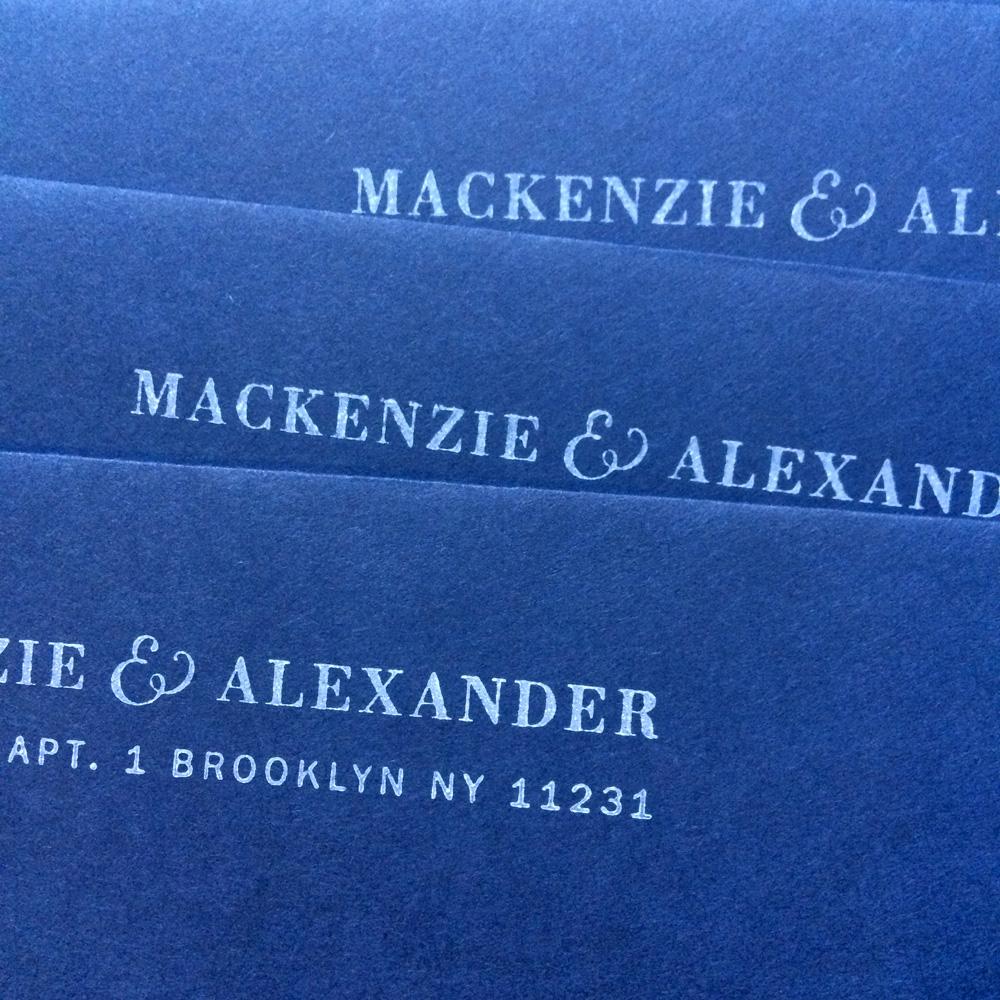 Mackenzie Invitation / Paper & Type