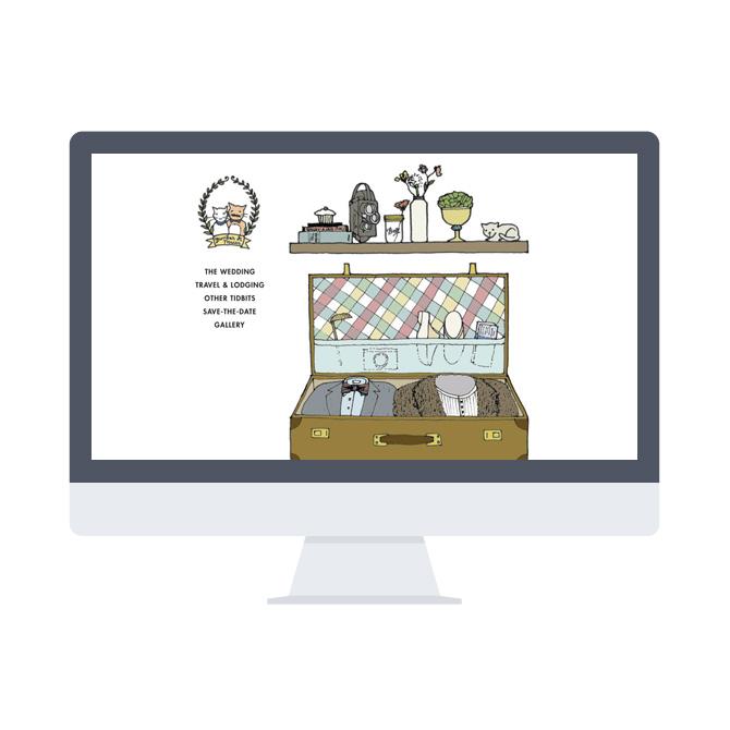 Wedkittens Website / Paper & Type