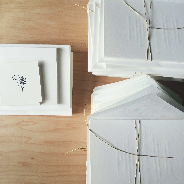 Eddy & Rachel Invitation / Paper & Type