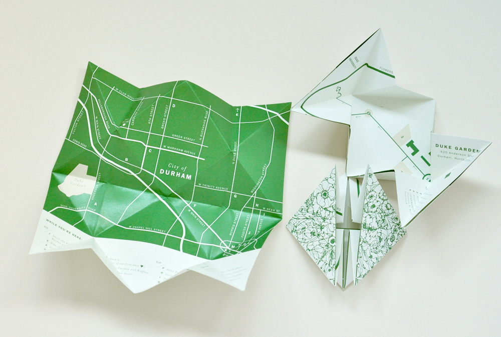 Folded map insert / Paper & Type