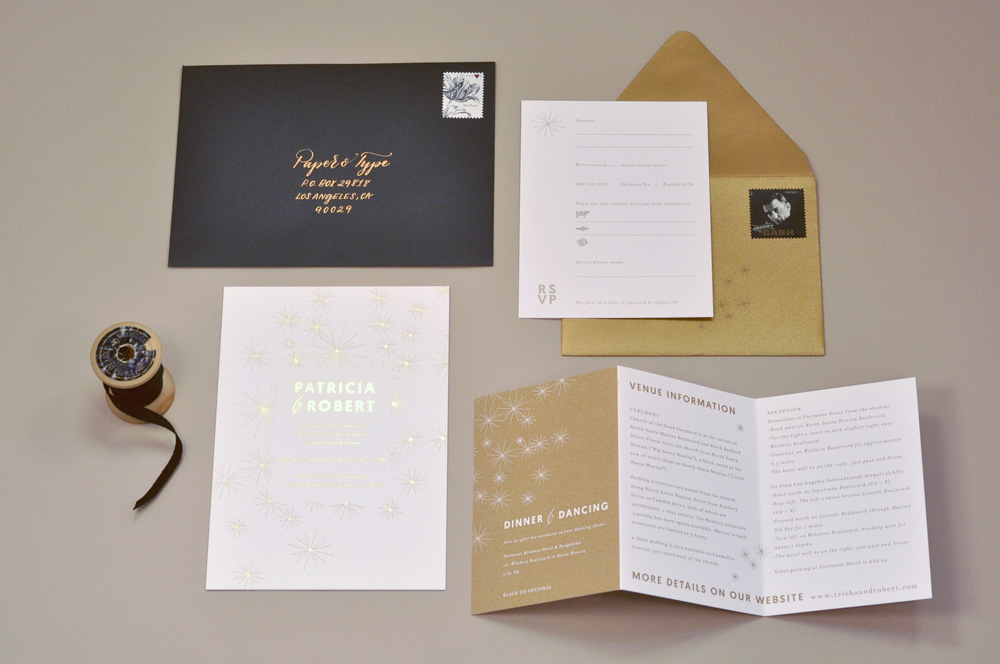 Invitation set / Paper & Type