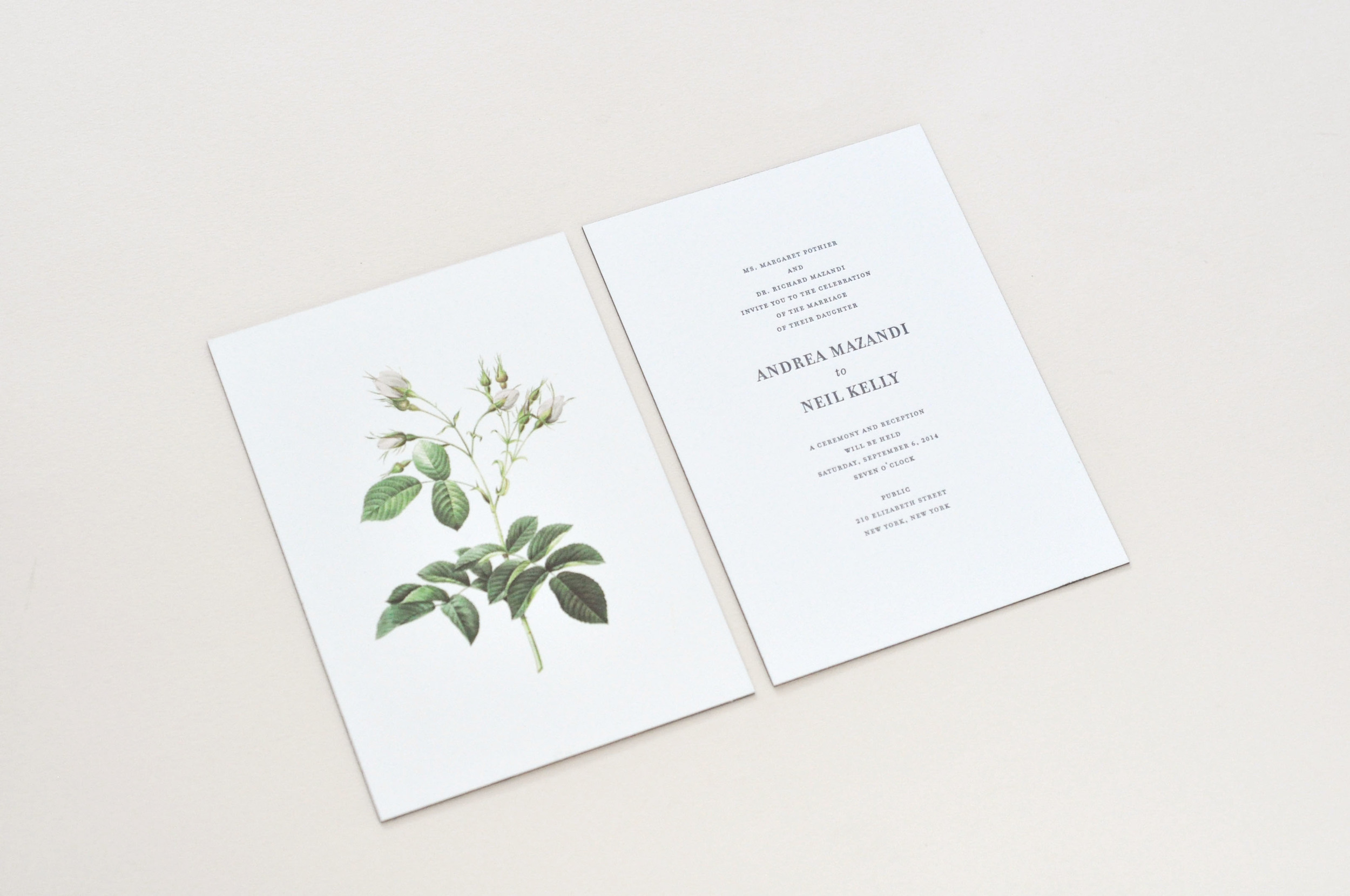 Invitation / Paper & Type