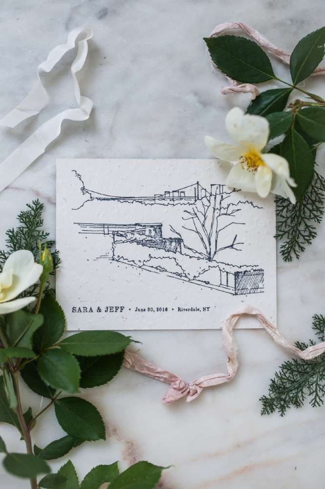 NYC Garden Wedding Save-the-Date by Paper & Type, styled and photographed by Emilie Anne Szabo