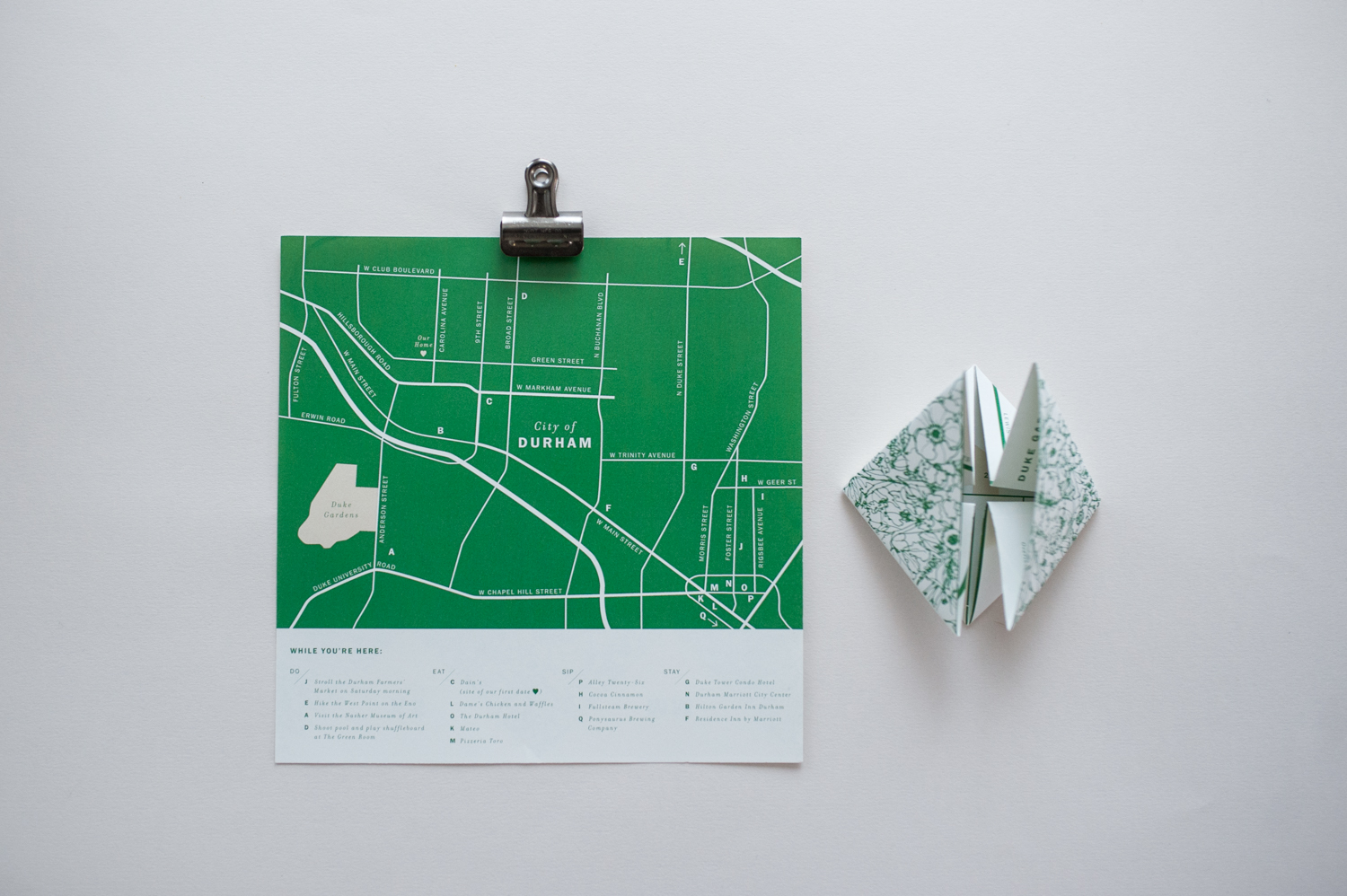 Allover Floral Invitation in Green by Paper & Type, styling and photography by Emilie Anne Szabo