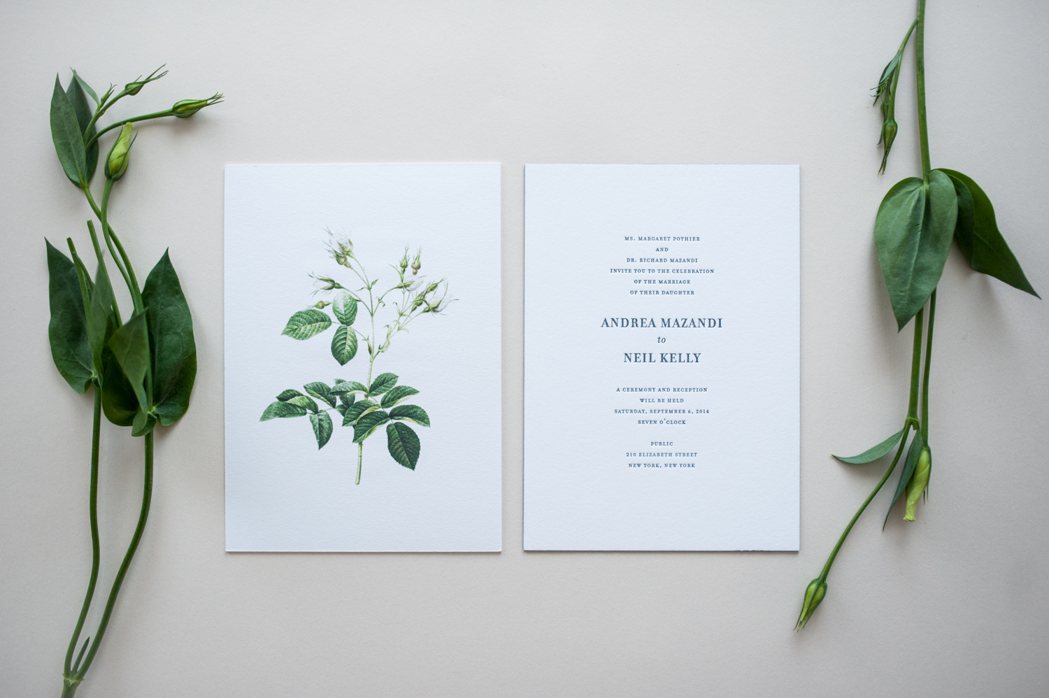 Andrea & Neil Wedding Invitation by Paper & Type, styling and photography by Emilie Anne Szabo