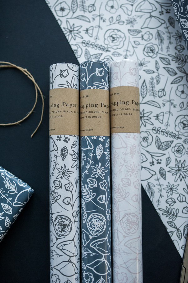 Floral Wrapping Paper / Paper & Type