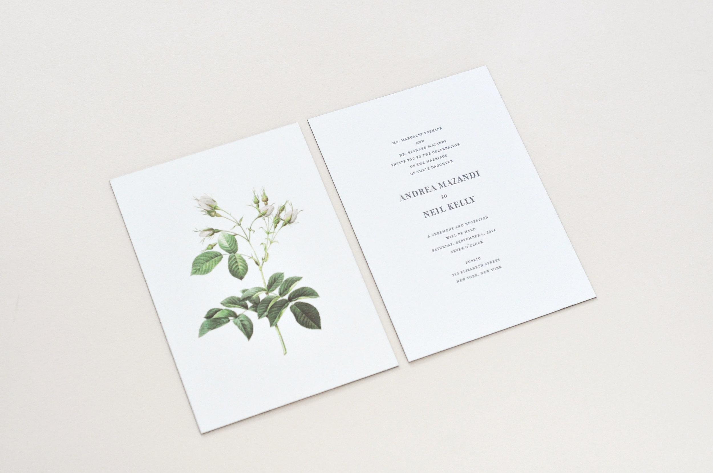Classic Rose - INVITATION
