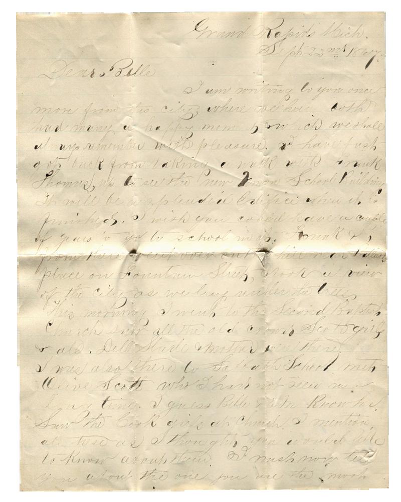 Letter to Belle