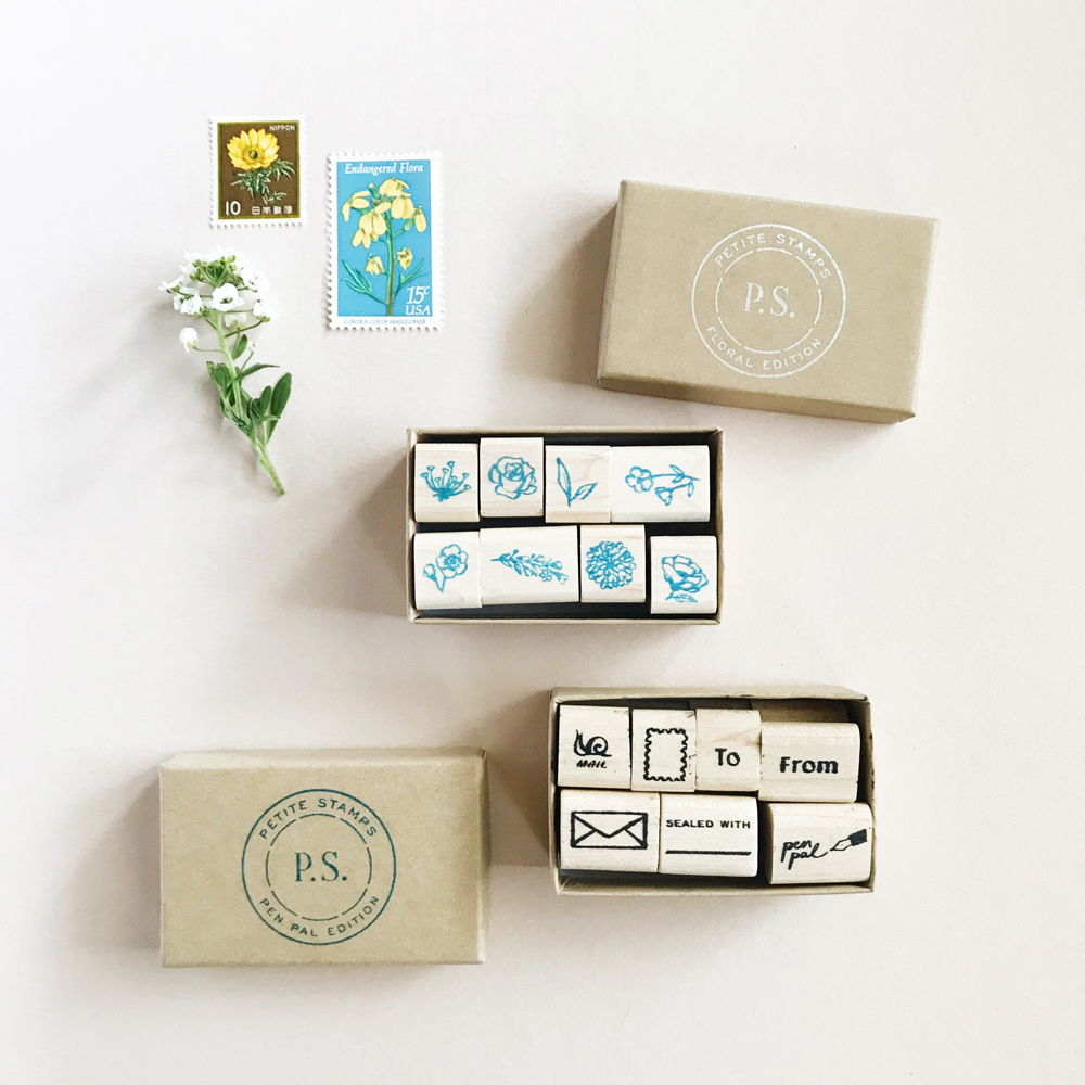 P.S. Floral Edition Stamps / Paper & Type
