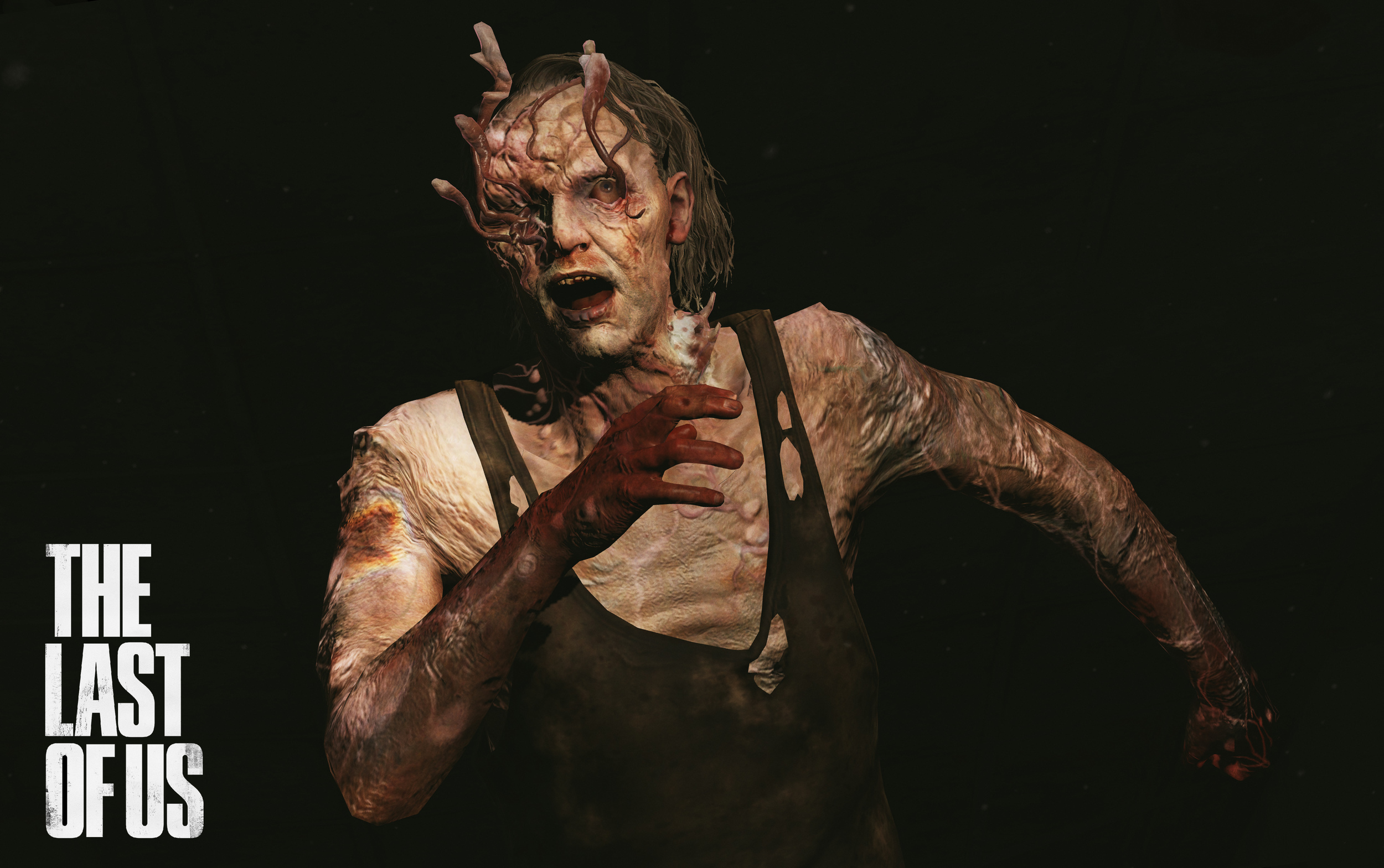 """Stalkers  are the second stage of the Infected. They have the vision and speed of Runners and a slightly weaker enhanced echolocation of Clickers. The most notable physical traits that define the """"Stalkers"""" is the distinct croaking noises they make, the beginning of fungal growths on the head and face, the development of pseudo echolocation, and their discretion when chasing a victim - they will strafe and take cover, eventually closing in on the victim, hence the name """"Stalker"""""""