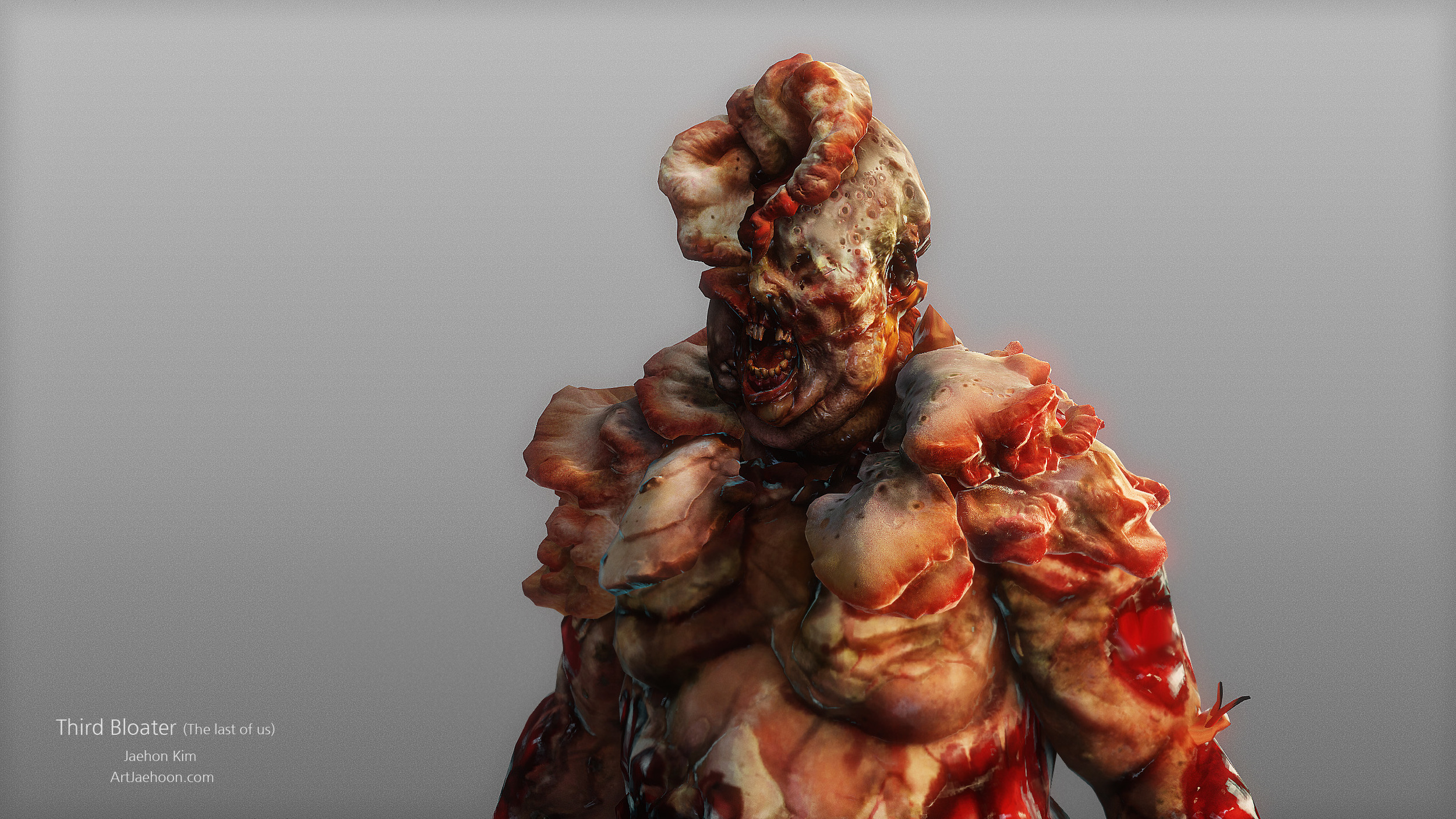 This is one of bloater variation. The base model is from Michael Knowland and I created upper torso include the head.