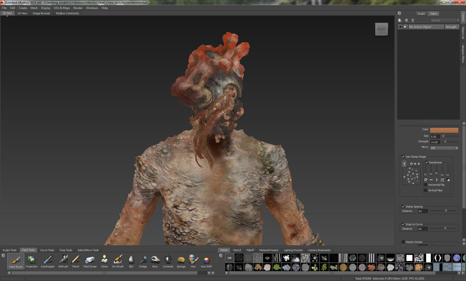 100% hand paint texturing