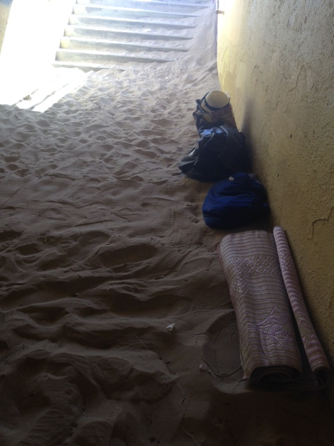 The sand in the tunnel has created an inviting bed for encampments by homeless folks.
