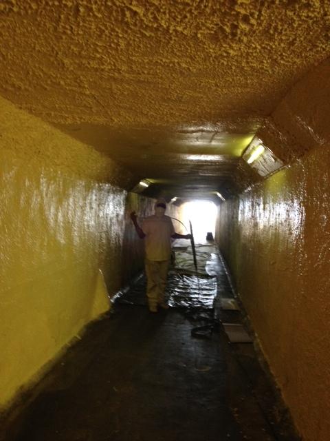 beach tunnel painting in progress 1.JPG