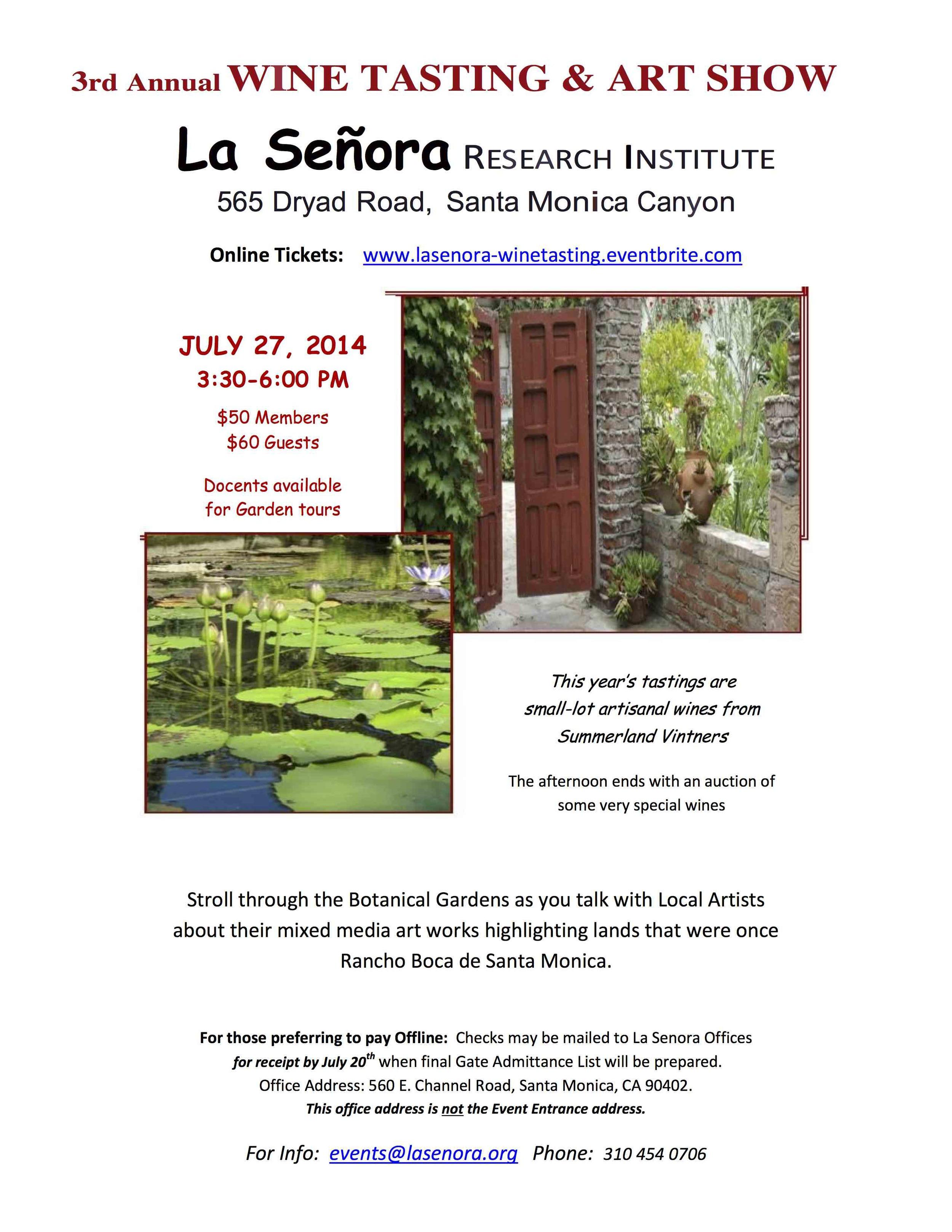 3rd Annual Wine Tasting & Art Show in the Gardens Tickets, Santa Monica - Eventbrite