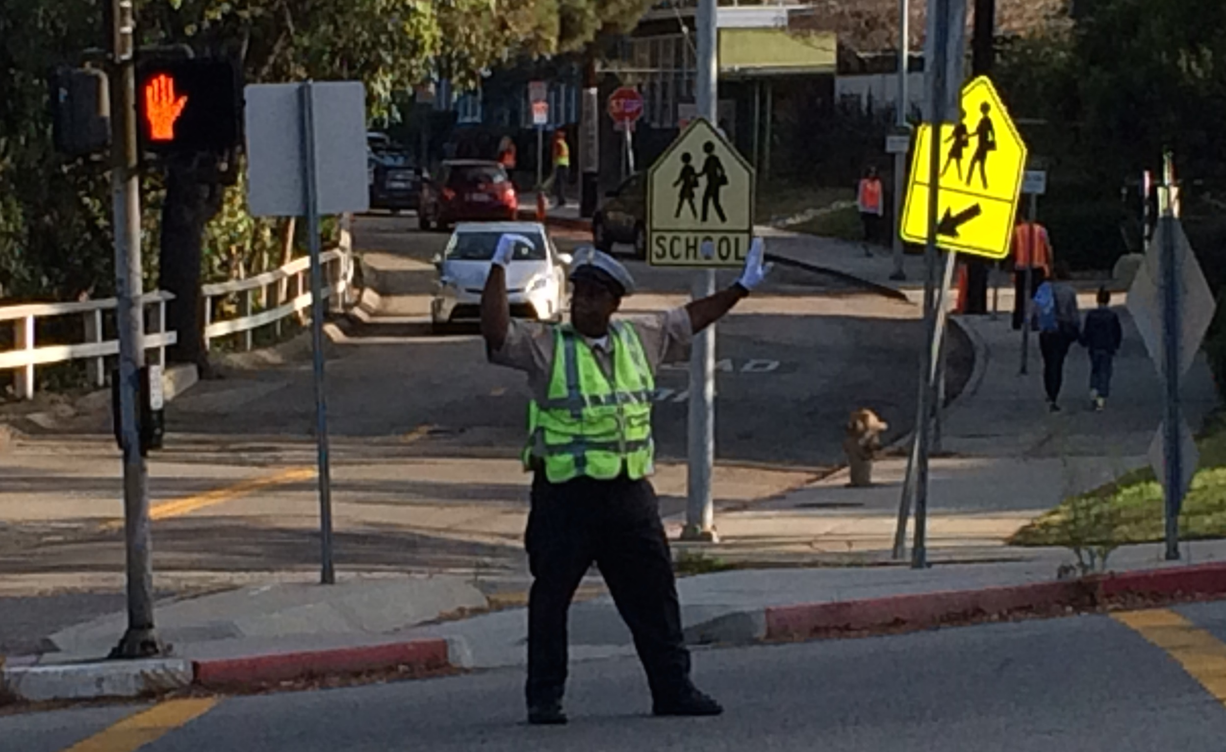 LADOT has now been able to extend the presence of an officer for another 3 weeks, till September 15