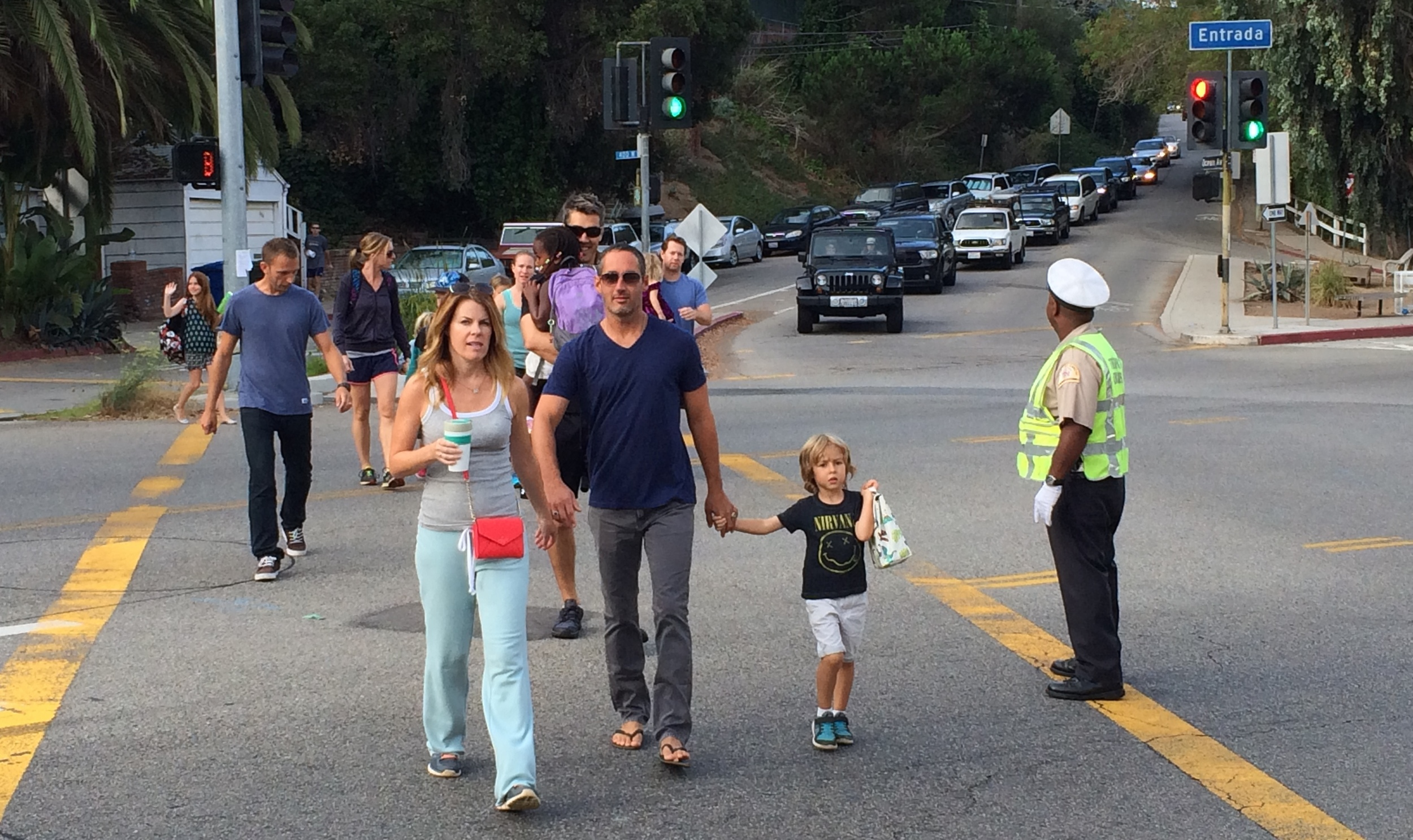 He keeps kids and families safe while keeping traffic moving