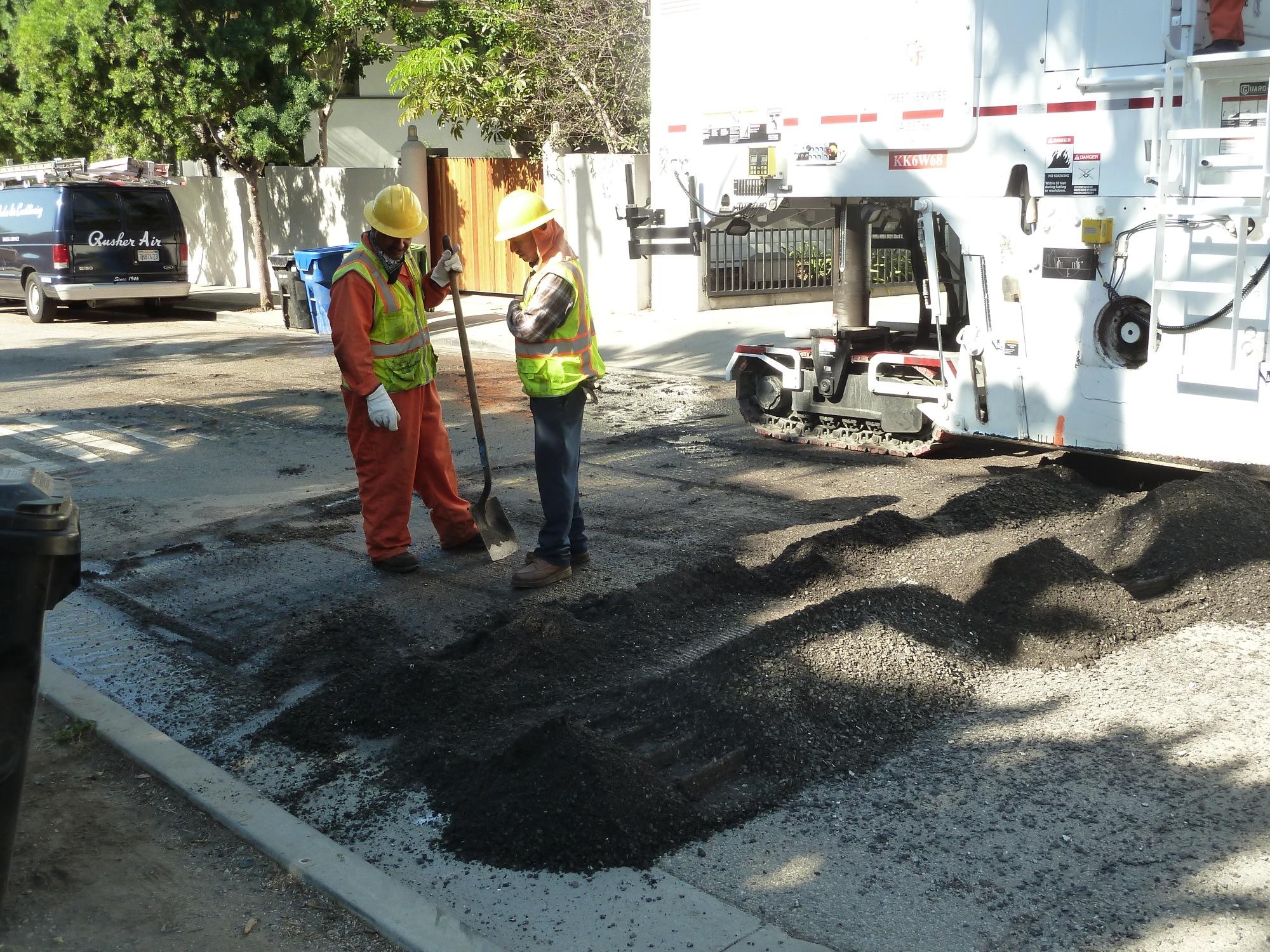 Pile of ground asphalt