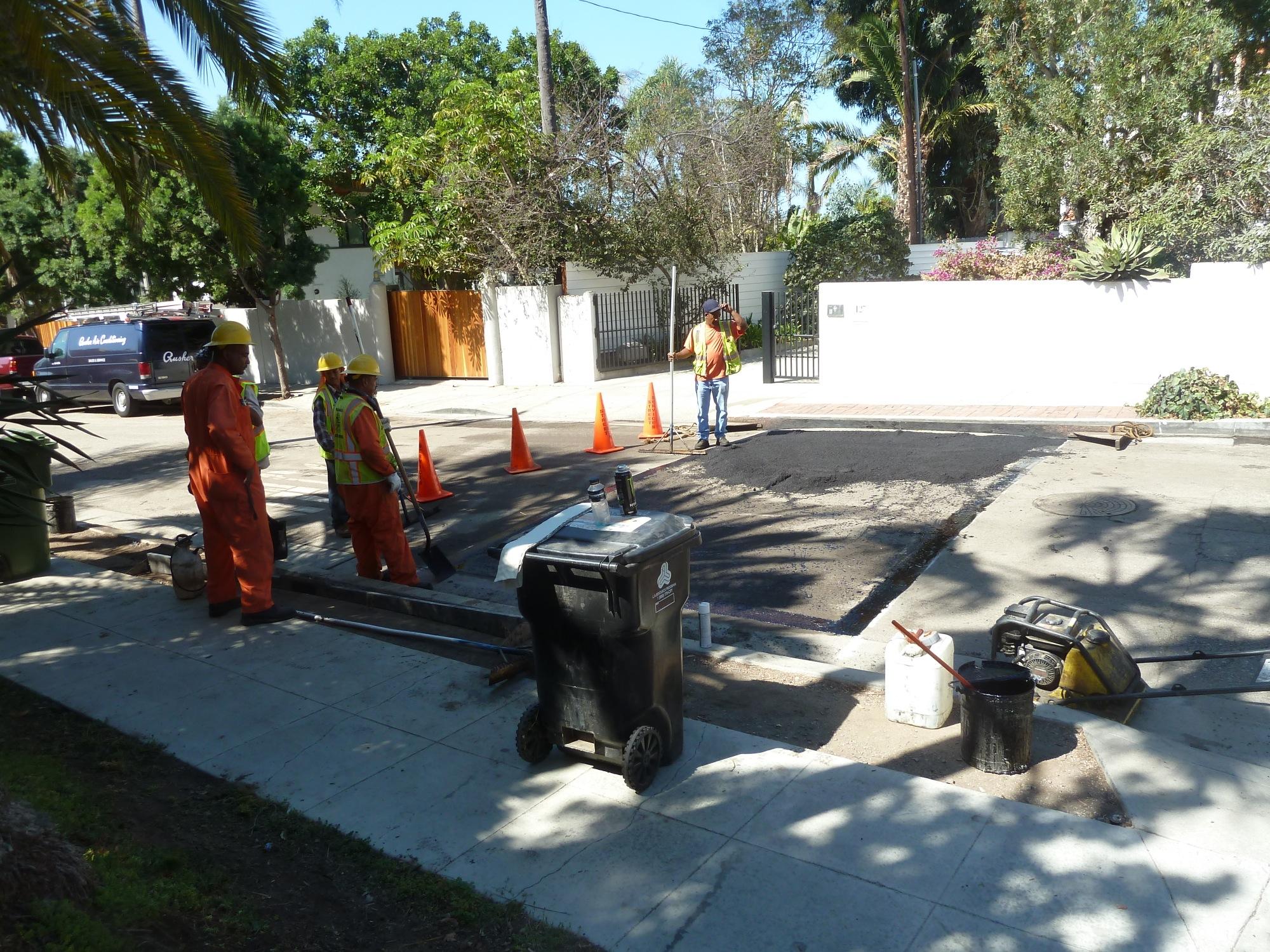 New asphalt spread into hump area