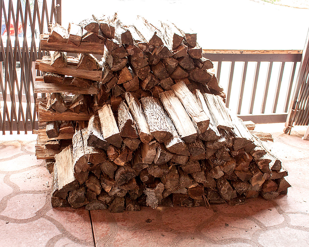 Our preferred wood for smoking, Hickory.