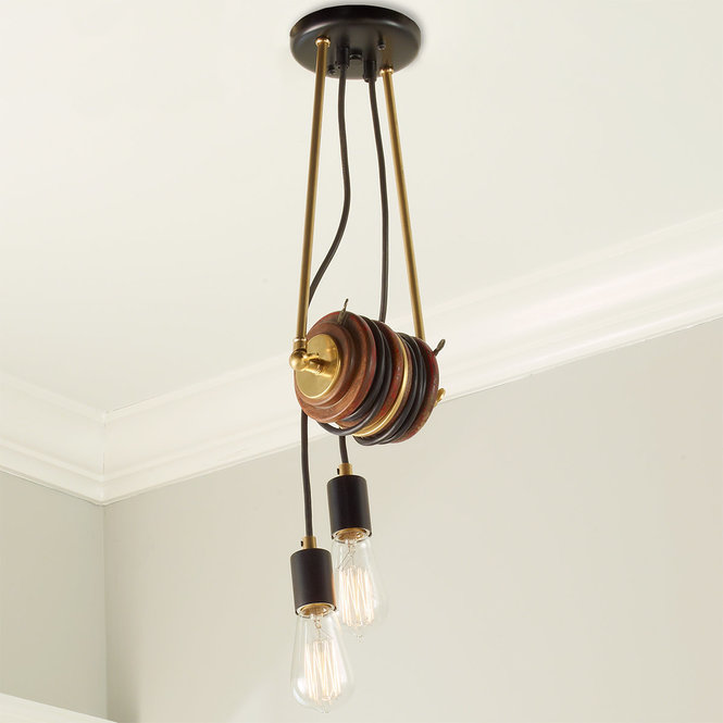 UMANOFF COLLECTION LIBRARY DOUBLE PULLEY PENDANT