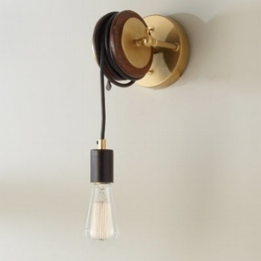 UMANOFF COLLECTION LIBRARY PULLEY SCONCE