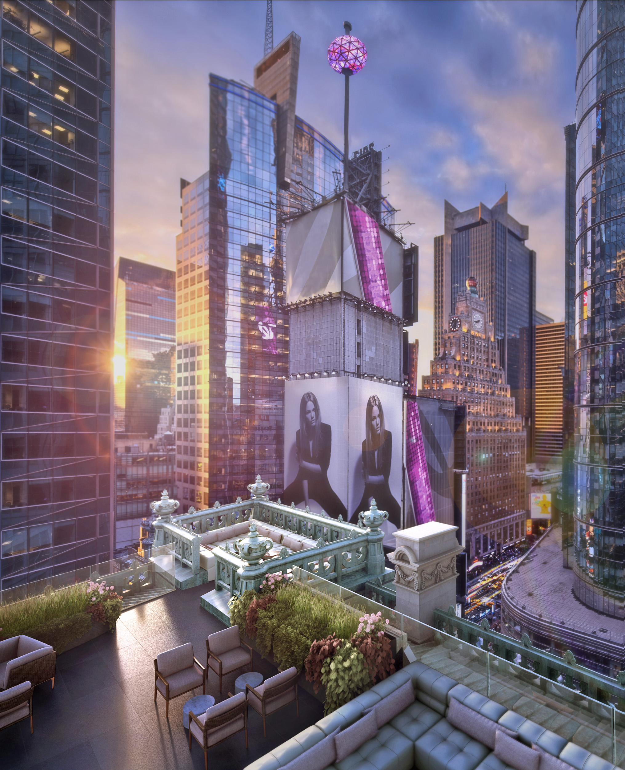 The Knickerbocker Rooftop, Times Square, NY