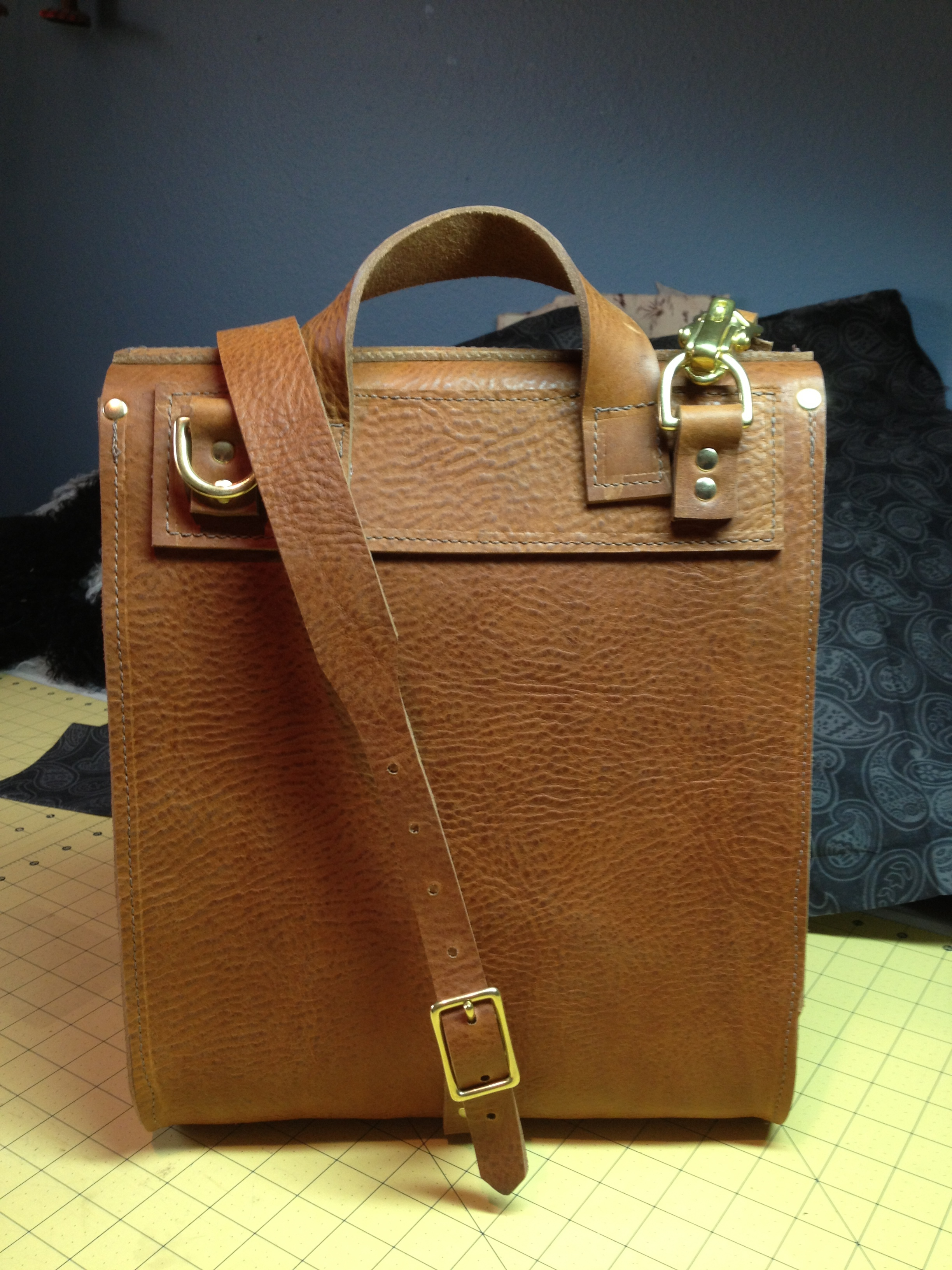 Classic British-style Backpack--rear view