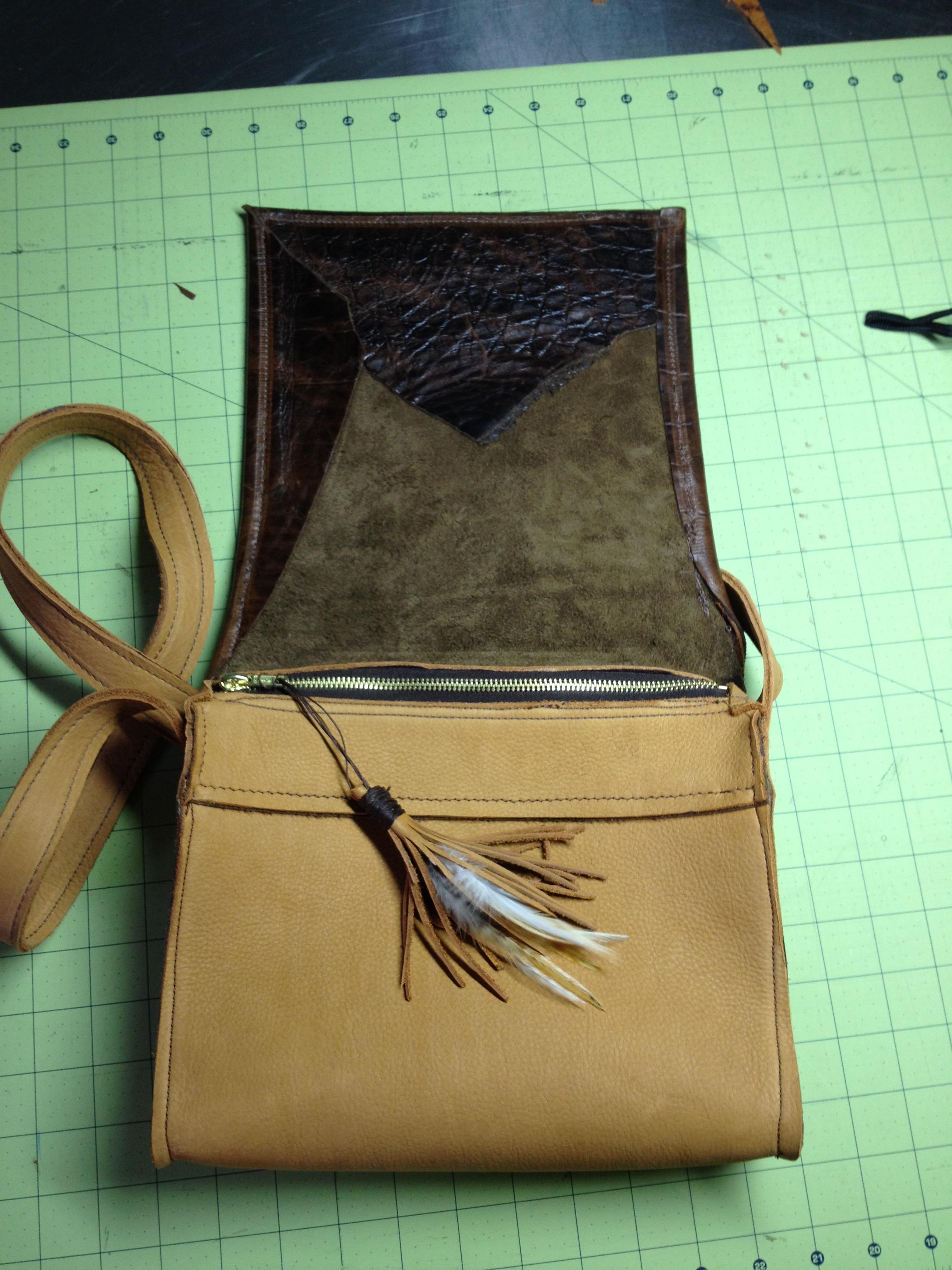 The Carolina Handbag-flap opened