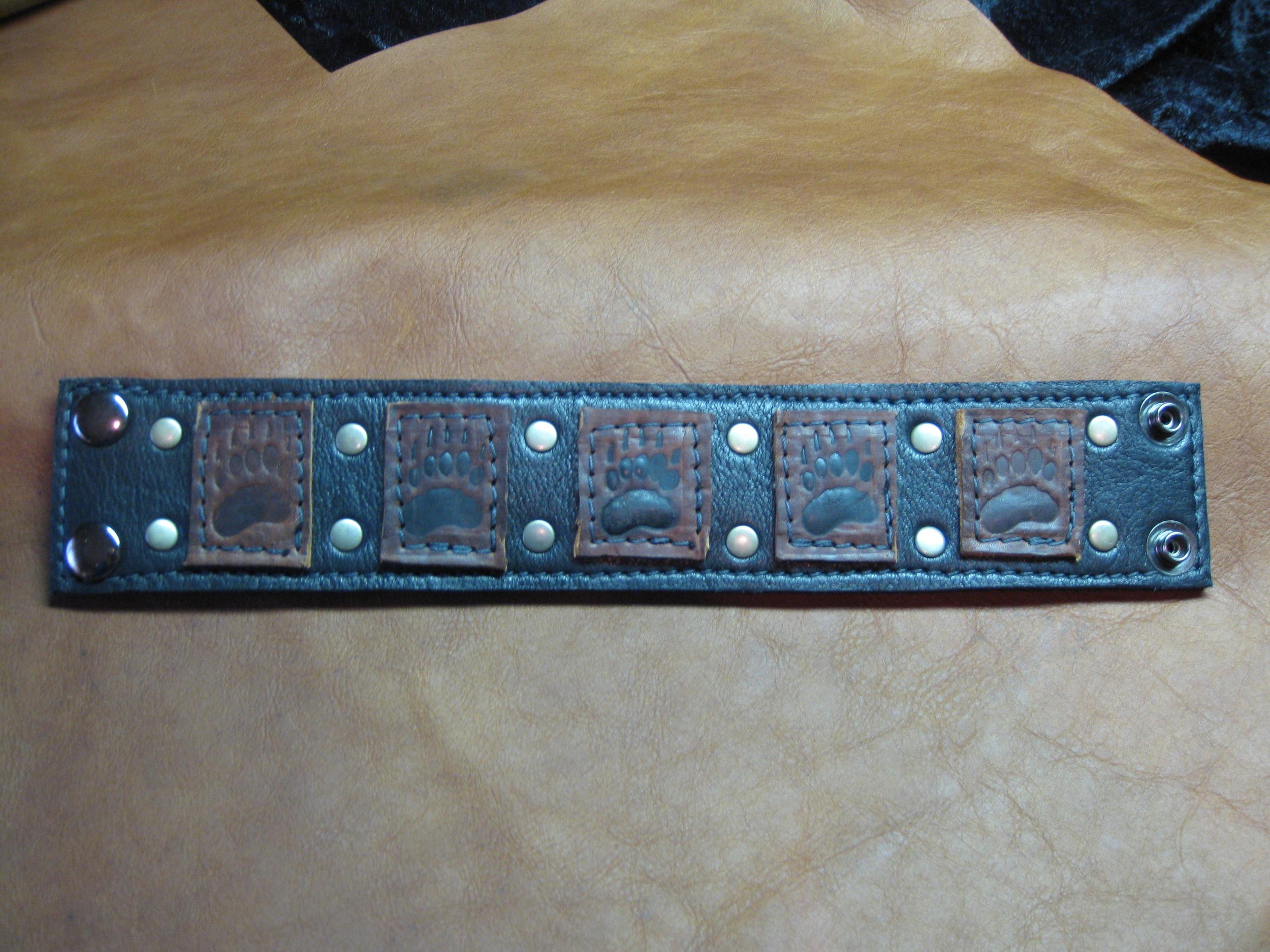 Bear Paw Leather Cuff