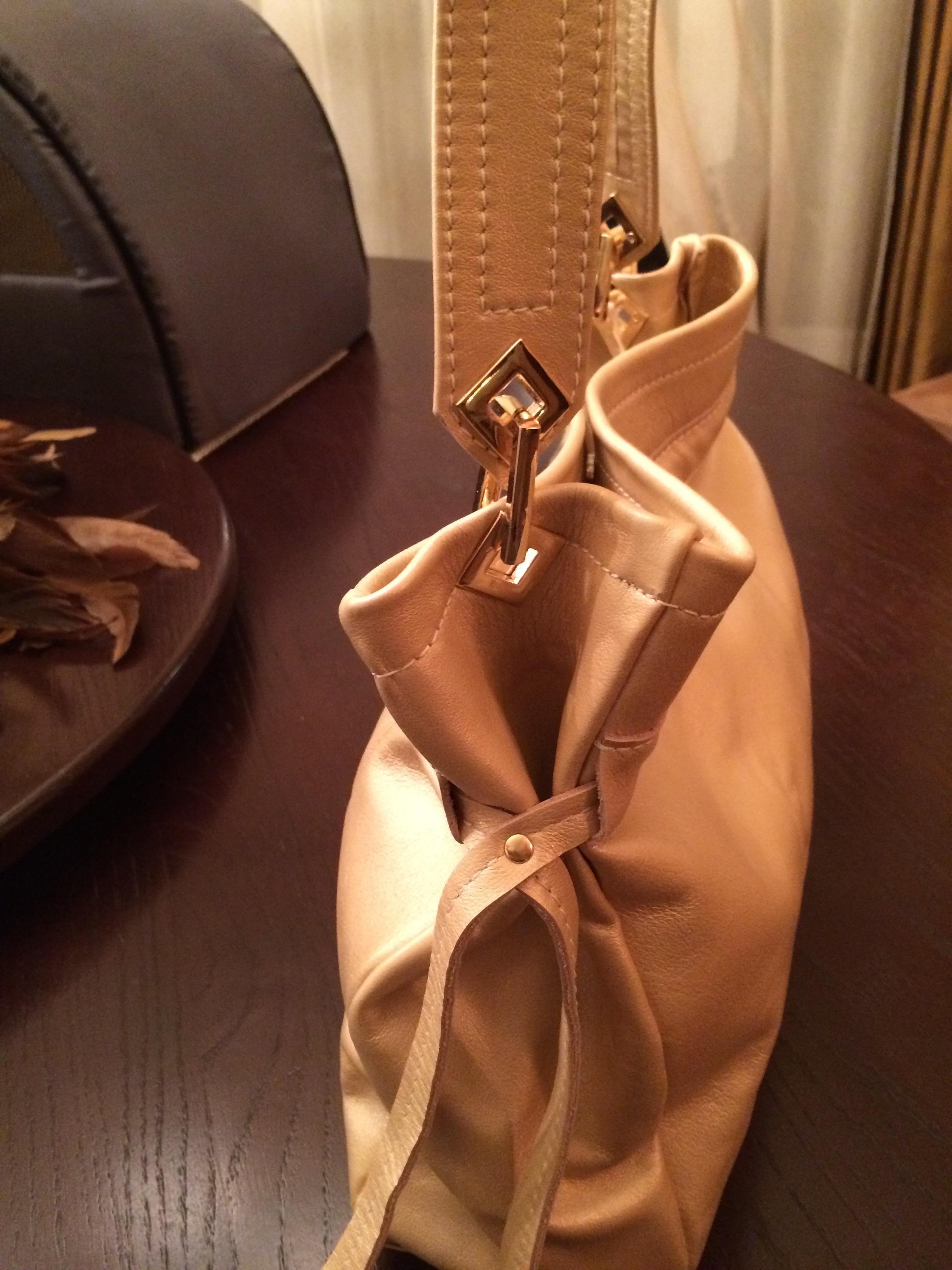 Champagne Handbag-side profile