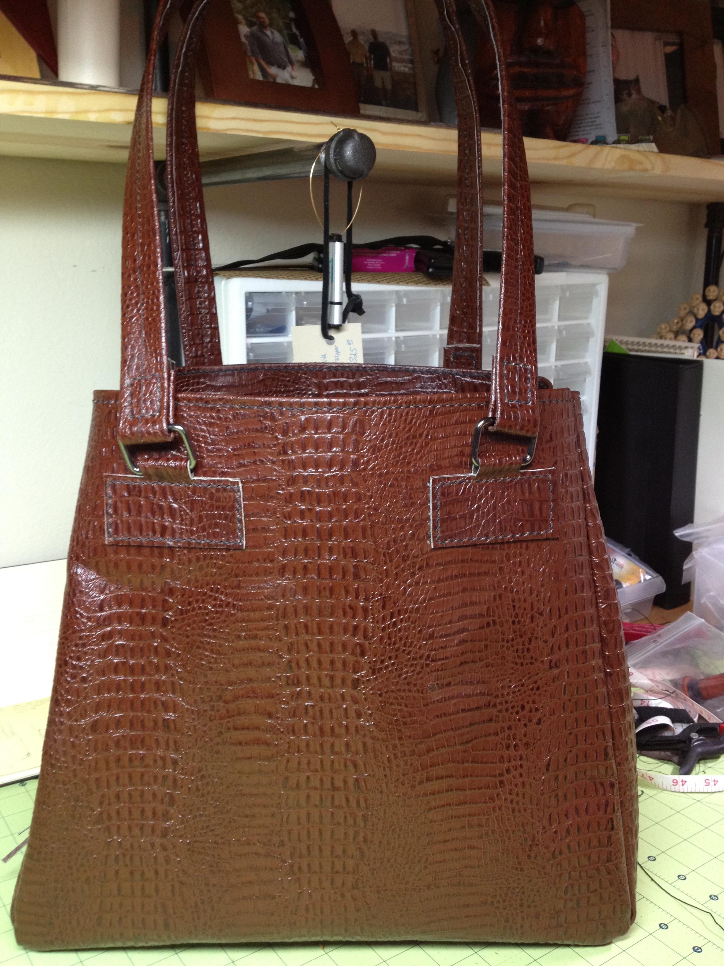Alligator Textured Handbag
