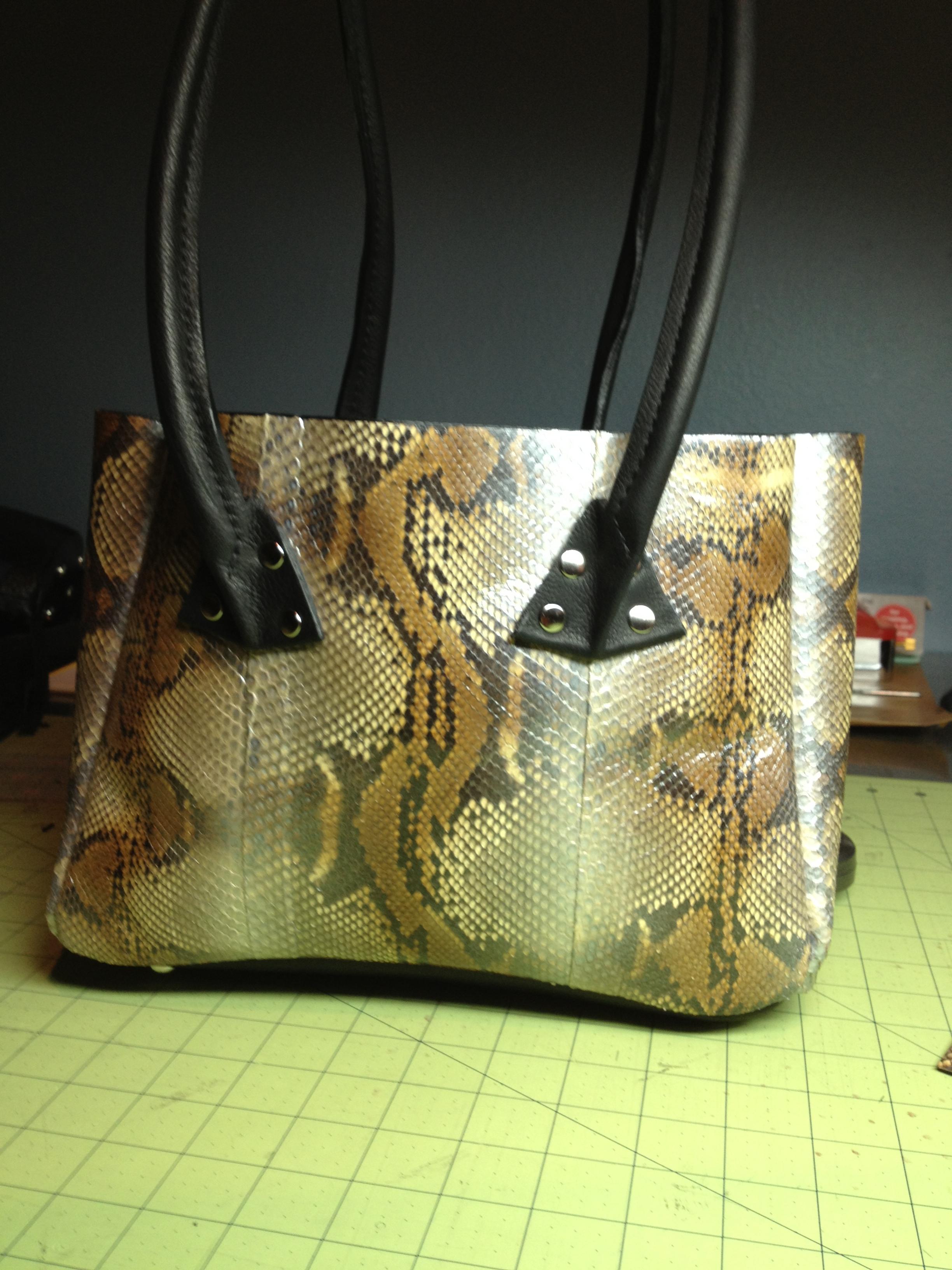 Python Handbag-close up