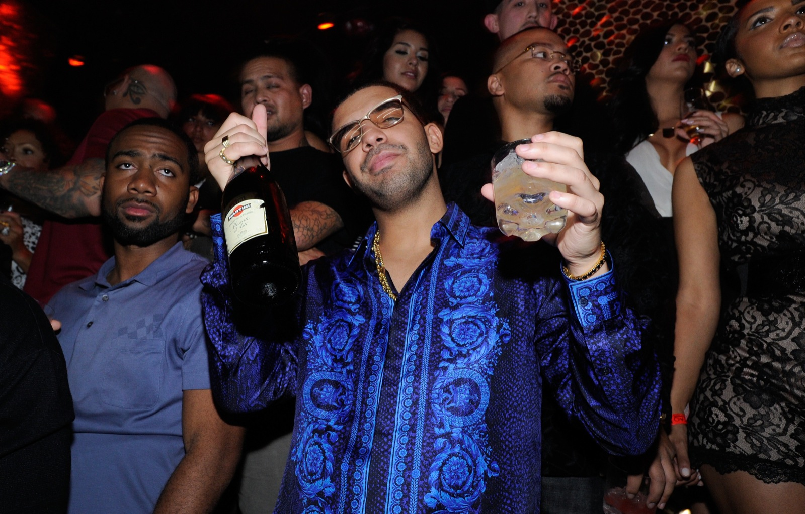 Drake celebrates his 25th birthday at TAO nightclub in Las Vegas.The party was sponsored by MARTINI Moscato d'Asti.(David Becker/Wire Image)