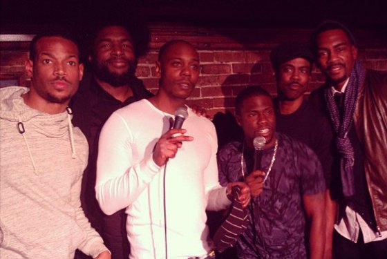 Marlon Wayans, ?uestlove, Dave Chapelle, Kevin Hart, Chris Rock and Bill Bellamy.