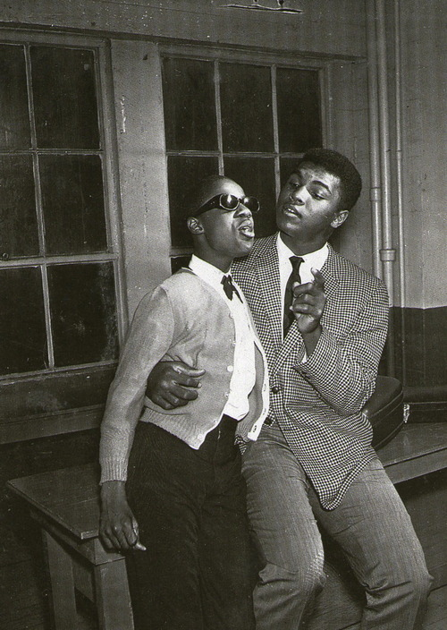 Little Stevie Wonder and Muhammad Ali.
