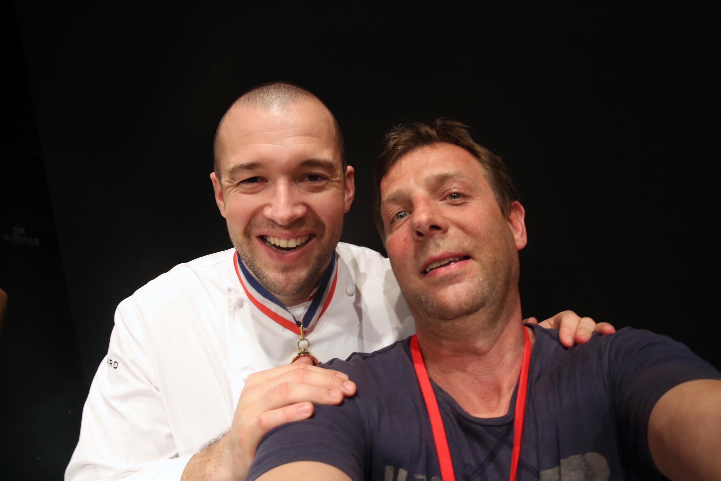 Selfie avec Guillaume Gomez Chef de l'Elysée. Directeur technique Guillaume Gomez, président des Cuisiniers de la république et Chef des cuisines de l'Elysée