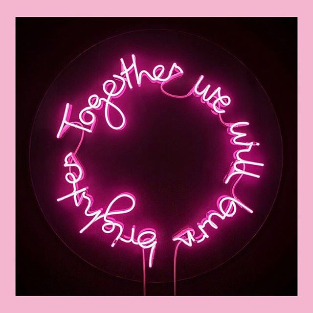Life goal: own a house big enough to hold all the neon we covet 👀 by @laurenbakerart 💗 . . . . #fluorescent #neonsign #neonart #neonpink #allthelights #windowshopping #burnbright #shinythings #wallartdecor
