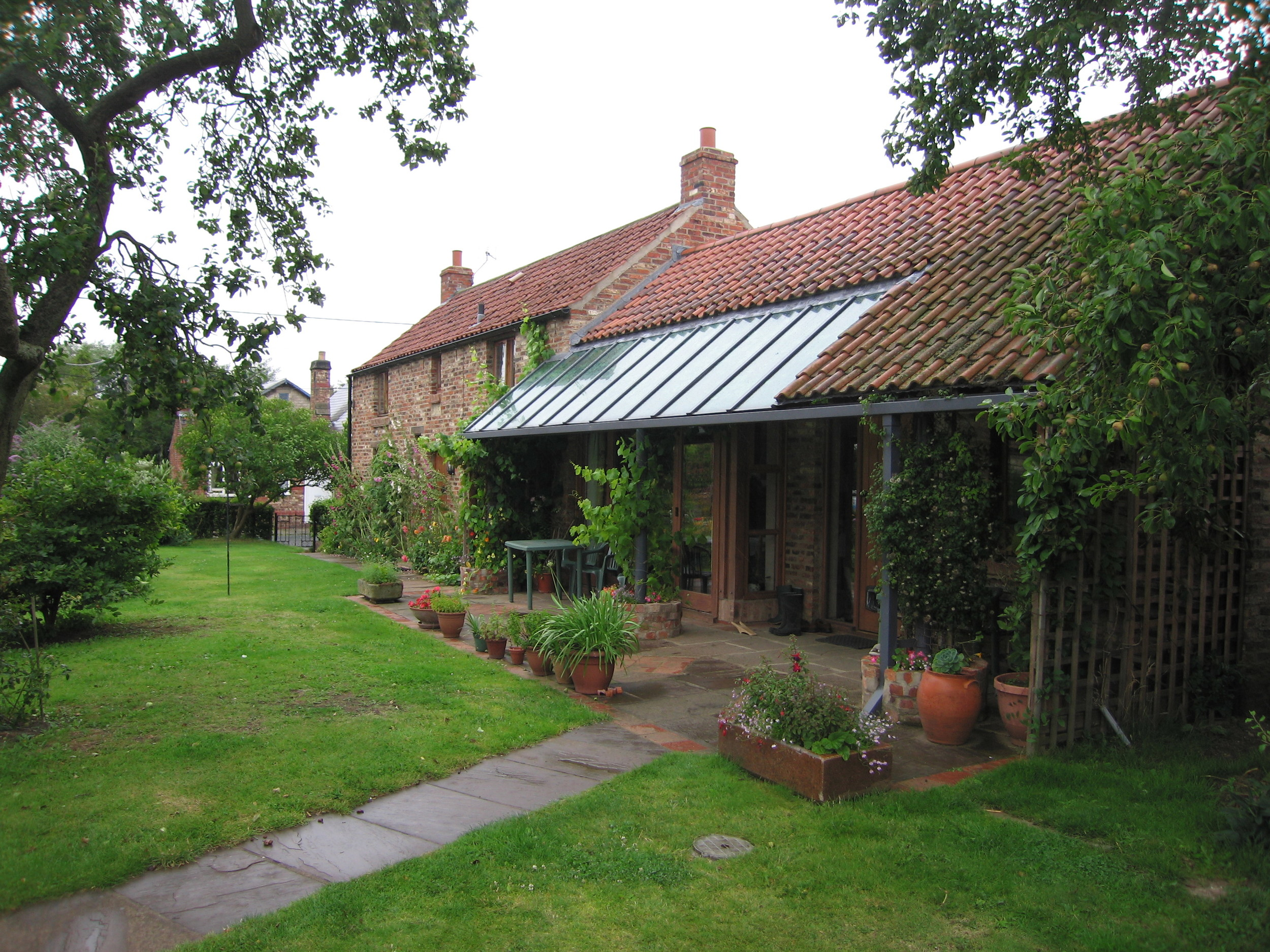 Original unsafe cottage re-built in a new position with extended spaces