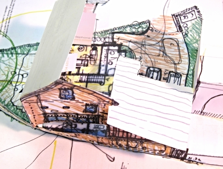 ……early passive house idea sketches and paper model