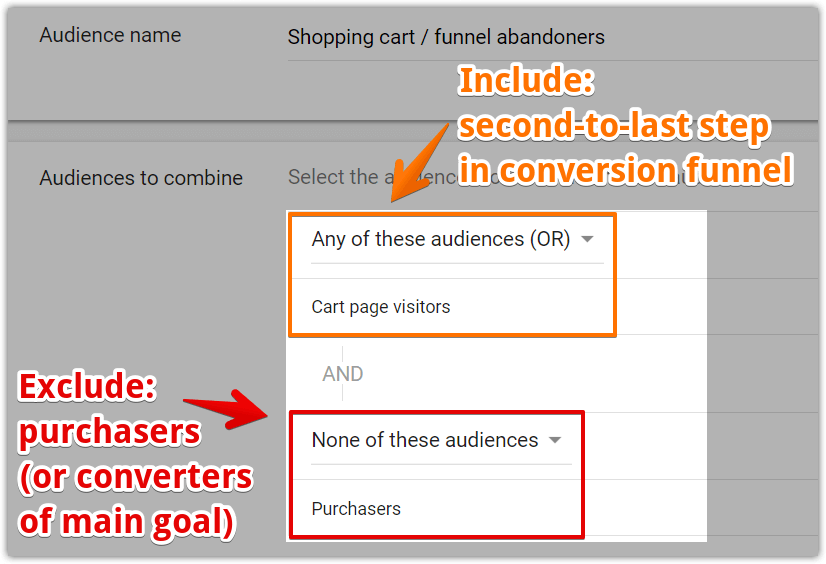 Shopping cart abandoners AdWords custom combination 4 01.png