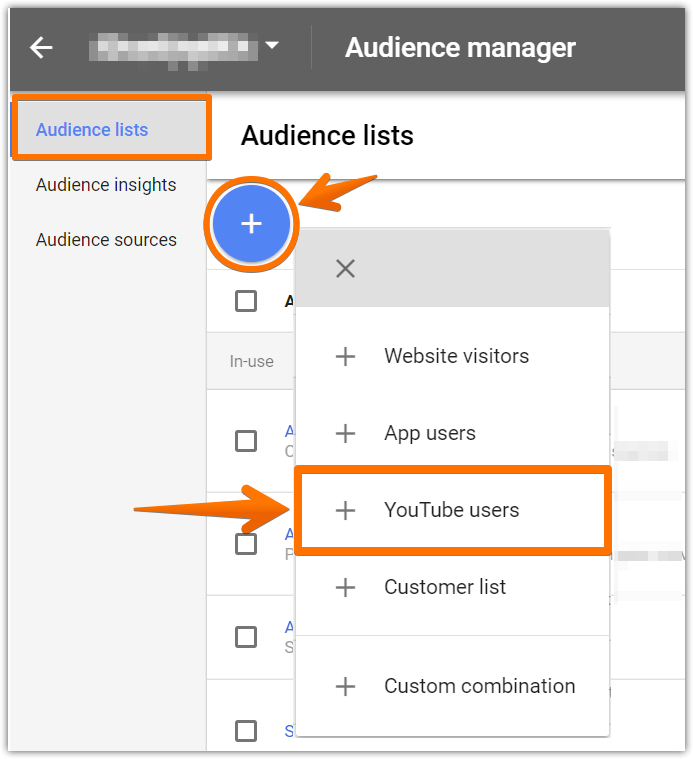 Add an audience list of YouTube users 01.png