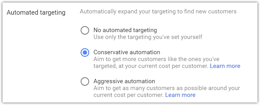 Conservative vs aggressive automated targeting 01.png
