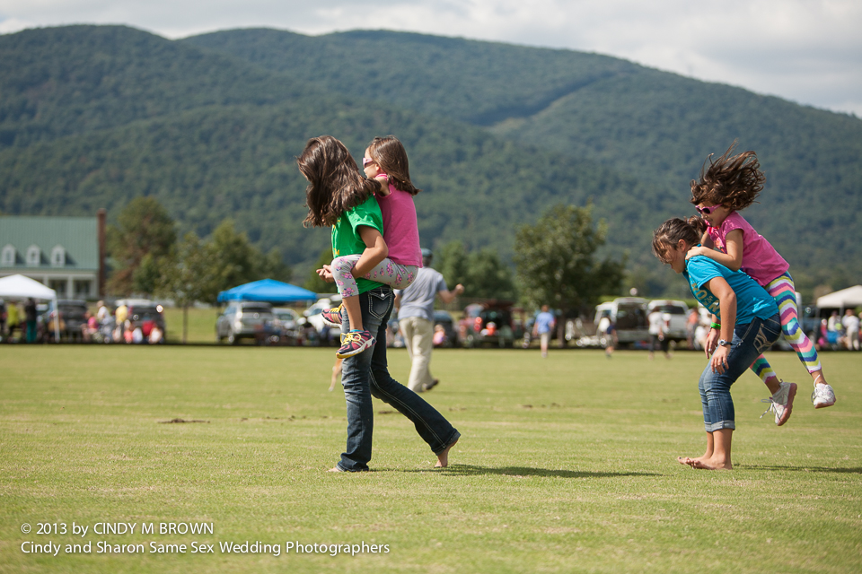 Spectators at Polo Match tamp down divets