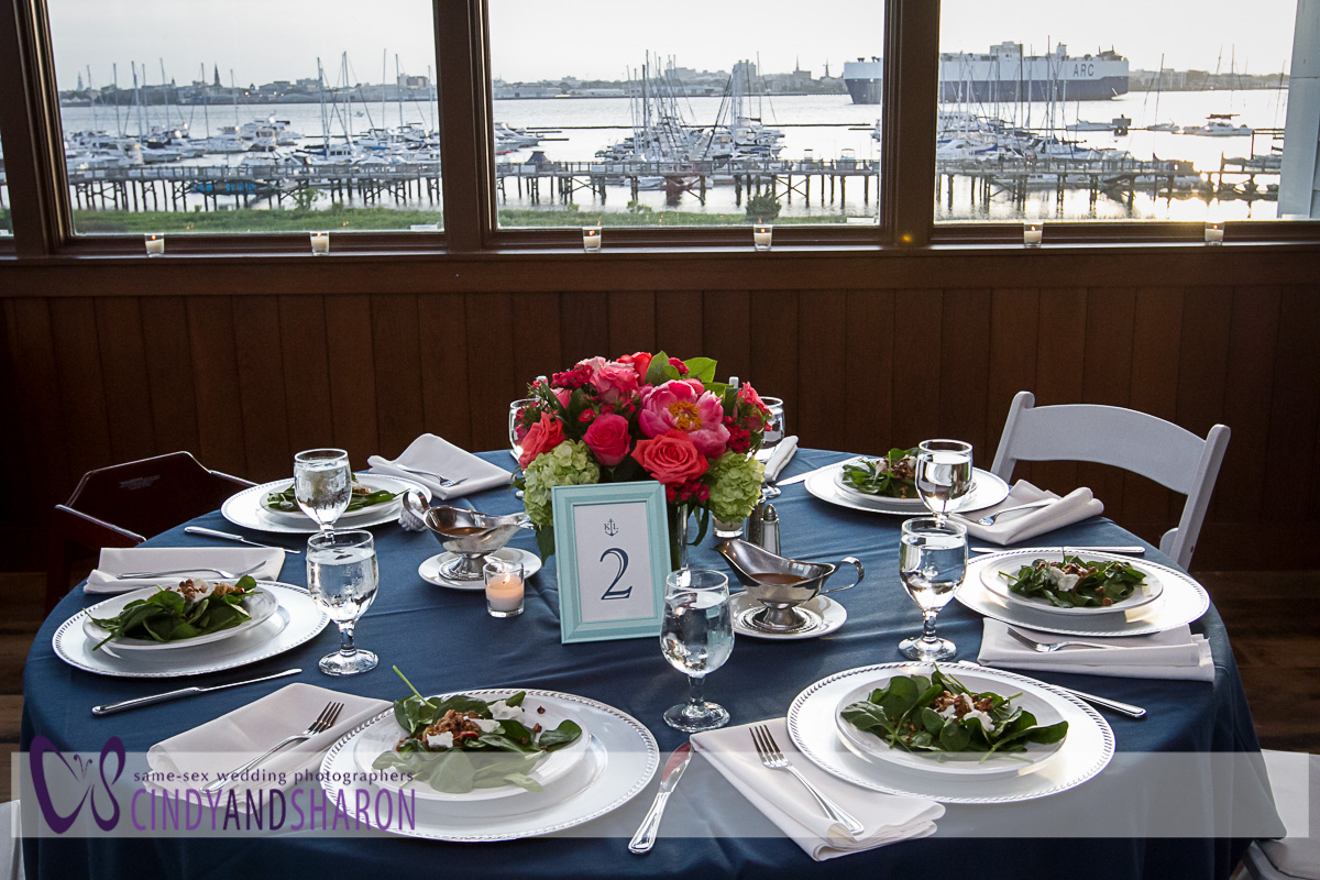 Kat Wall and Lindy Dyer Wedding at Patriot's Point in Charleston, SC