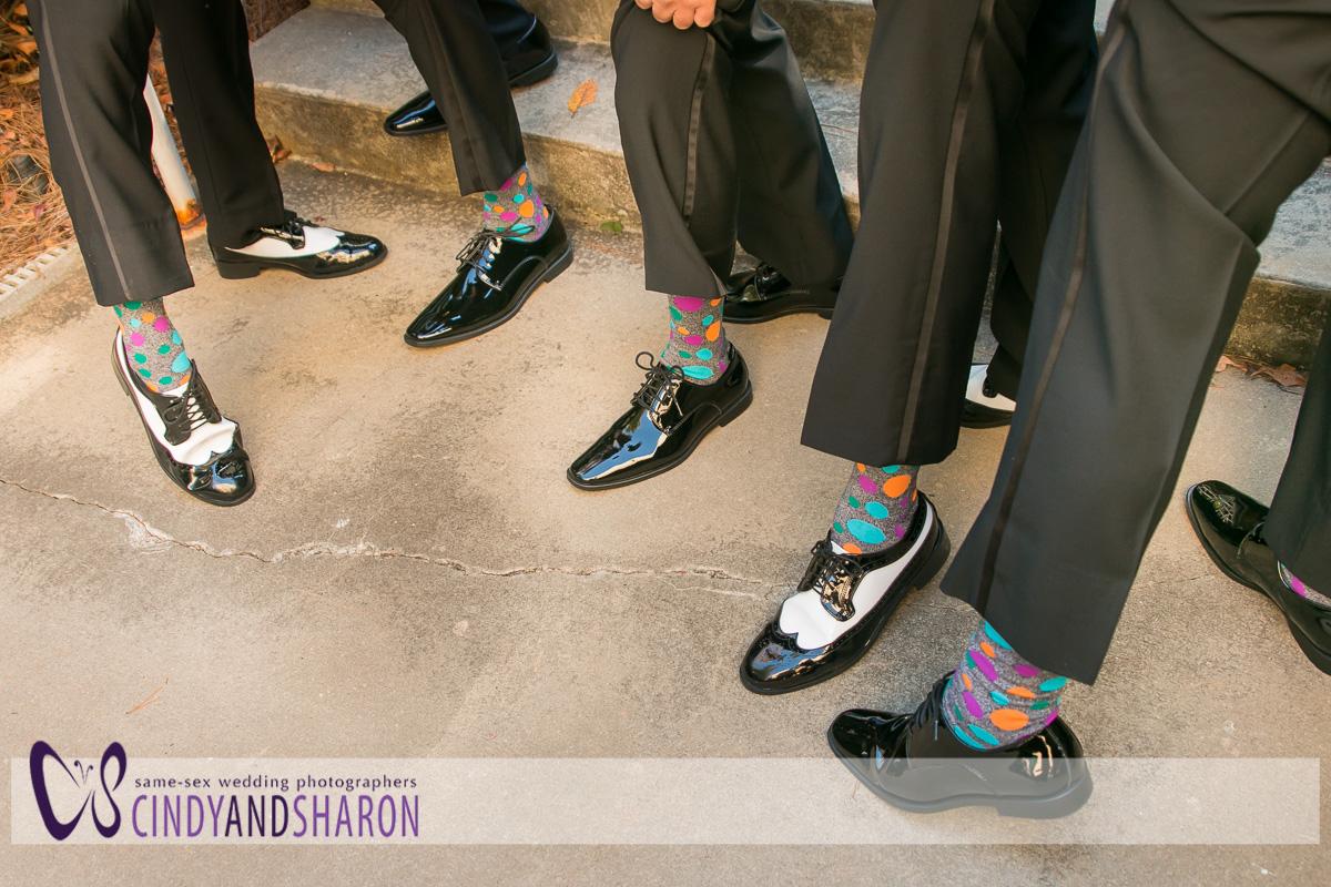 The groomsmens's socks.
