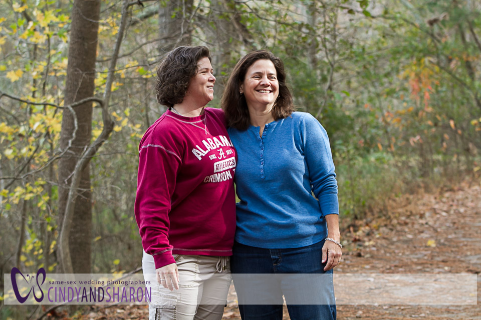 Julie and Jackie at Lullwater Park, Emory campus