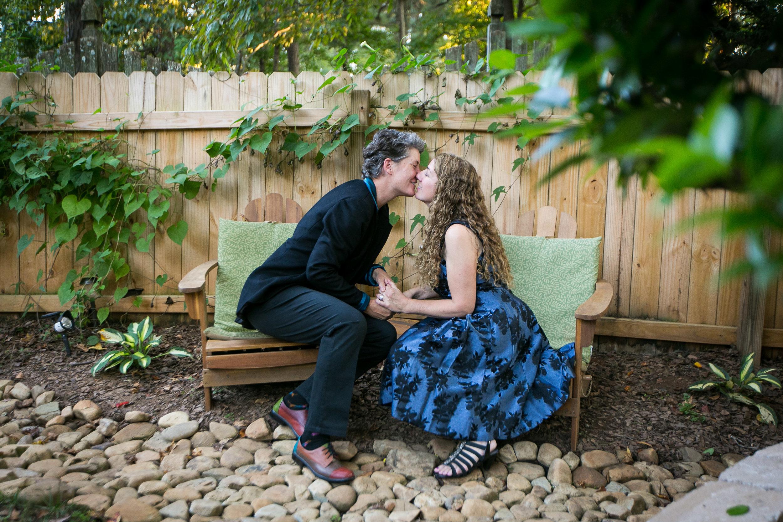 Cathy and Lori's backyard wedding in Alpharetta