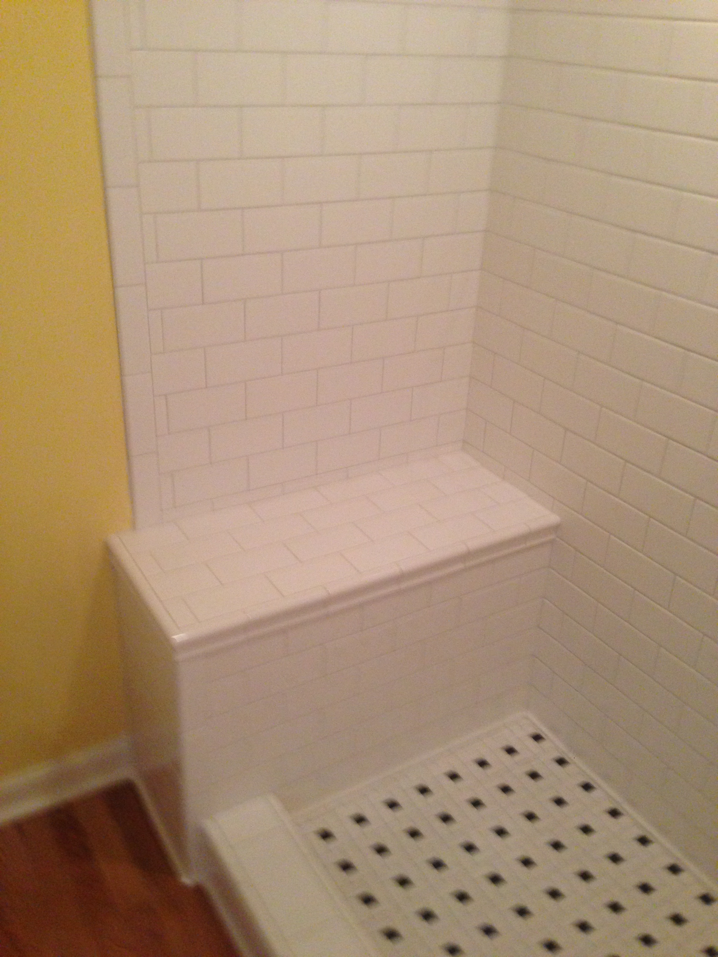 Tiled Shower Bench